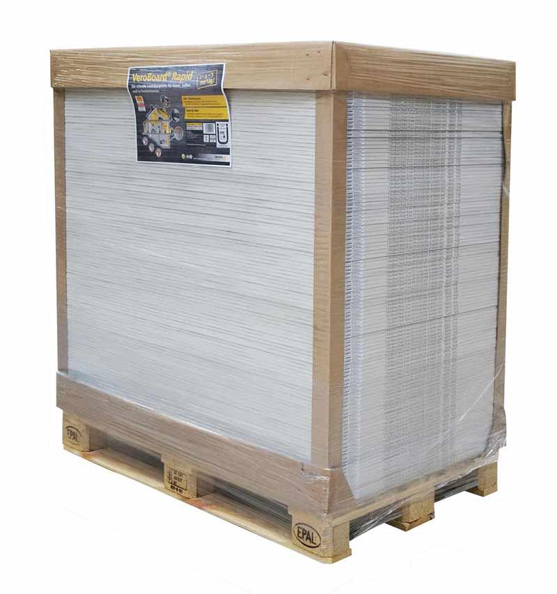 VeroBoard Rapid Ausbauplatte 120 Stück 1200x800x10mm 115,2m² Deutschlandweit Kostenlose Lieferung